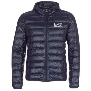 Ruhák Férfi Steppelt kabátok Emporio Armani EA7 CORE ID 8NPB02 Tengerész
