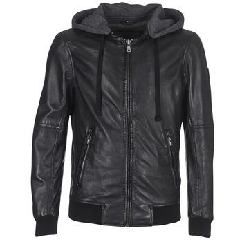 Ruhák Férfi Bőrkabátok / műbőr kabátok Oakwood JIMMY Fekete