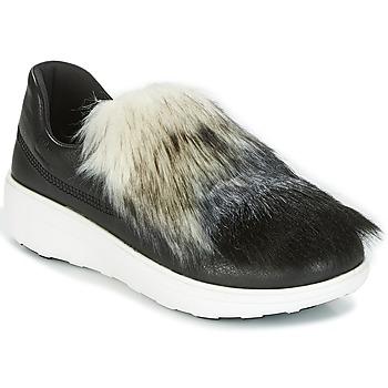 Cipők Női Belebújós cipők FitFlop LOAFER Fekete
