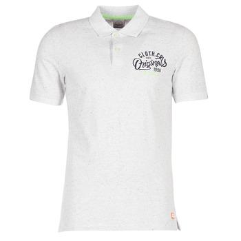 Ruhák Férfi Rövid ujjú galléros pólók Jack & Jones JORTRAST Fehér