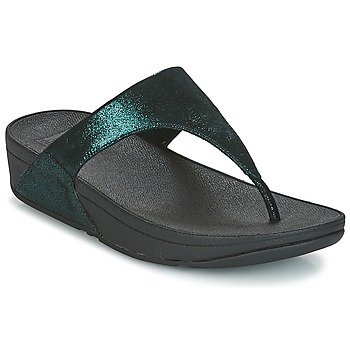 Cipők Női Lábujjközös papucsok FitFlop SHIMMY SUEDE TOE-POST Zöld