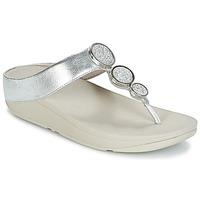 Cipők Női Lábujjközös papucsok FitFlop HALO TOE THONG SANDALS Ezüst