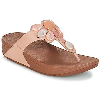 Cipők Női Lábujjközös papucsok FitFlop HONEYBEE JEWELLED TOE Bőrszínű