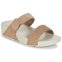 Cipők Női Papucsok FitFlop LULU POPSTUD SLIDE SANDAL Bézs