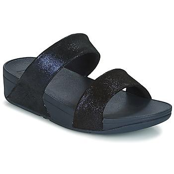 Cipők Női Papucsok FitFlop SHIMMY SUEDE SLIDE Kék