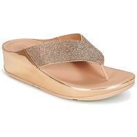 Cipők Női Lábujjközös papucsok FitFlop CRYSTALL Rózsaszín / Arany