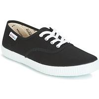 Cipők Rövid szárú edzőcipők Victoria INGLESA LONA Fekete