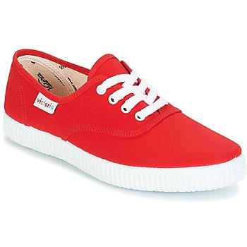 Cipők Rövid szárú edzőcipők Victoria INGLESA LONA Piros