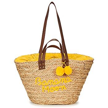 Táskák Női Bevásárló szatyrok / Bevásárló táskák Banana Moon LACELY WOODRAW Természetes / Citromsárga