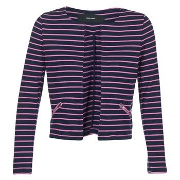 Ruhák Női Kabátok / Blézerek Vero Moda VMULA Tengerész / Rózsaszín