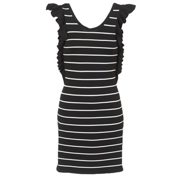 Ruhák Női Rövid ruhák Vero Moda VMABHY Fekete  / Fehér