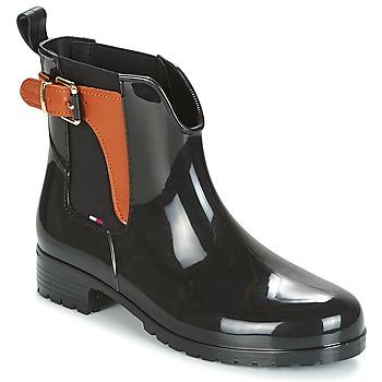 Cipők Női Gumicsizmák Tommy Hilfiger OXLEY Fekete