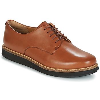 Cipők Női Oxford cipők Clarks GLICK DARBY Sötét / Cserszínű / Lea