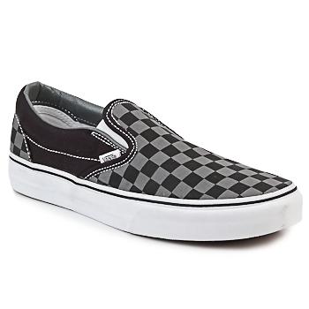 Cipők Belebújós cipők Vans CLASSIC SLIP-ON Fekete  / Szürke