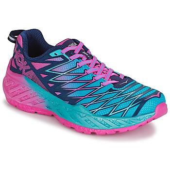 Cipők Női Futócipők Hoka one one W CLAYTON 2 Kék / Rózsaszín