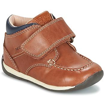 Cipők Fiú Rövid szárú edzőcipők Geox B EACH BOY Barna