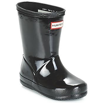 Cipők Gyerek Gumicsizmák Hunter KIDS FIRST CLASSIC GLOSS Fekete