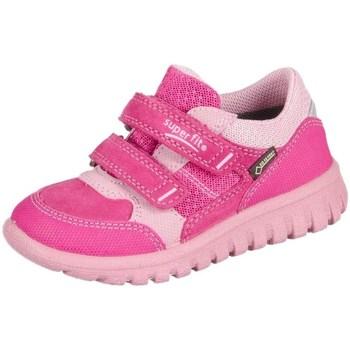 Cipők Gyerek Rövid szárú edzőcipők Superfit Sport Mini Pink Kombi Velour Tecno Textil Rózsaszín