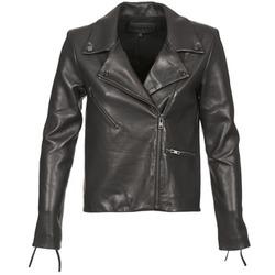 Ruhák Női Bőrkabátok / műbőr kabátok American Retro LEON JCKT Fekete