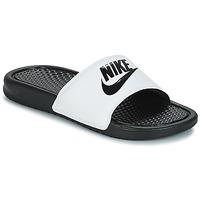 Cipők Férfi strandpapucsok Nike BENASSI JUST DO IT Fehér / Fekete