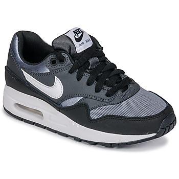 Cipők Fiú Rövid szárú edzőcipők Nike AIR MAX 1 GRADE SCHOOL Fekete  / Szürke