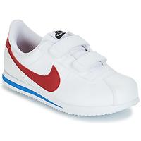 Cipők Fiú Rövid szárú edzőcipők Nike CORTEZ BASIC PRE-SCHOOL Fehér / Kék / Piros