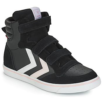 Cipők Lány Magas szárú edzőcipők Hummel STADIL LEATHER JR Fekete