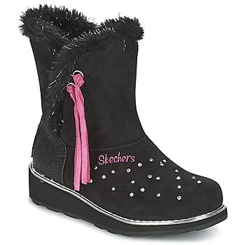 Cipők Lány Hótaposók Skechers SPARKLES Fekete  / Rózsaszín