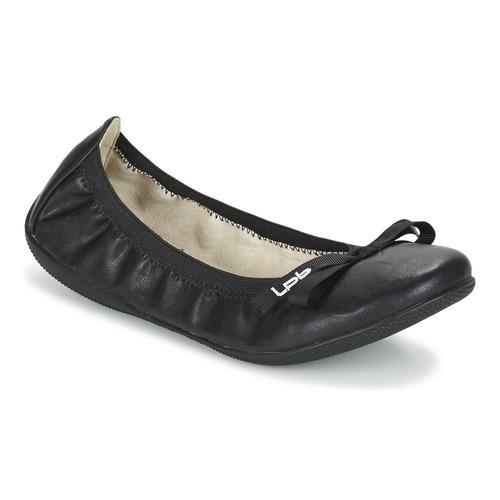 Cipők Női Balerina cipők / babák LPB Shoes ELLA Fekete