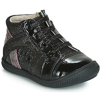 Cipők Lány Rövid szárú edzőcipők GBB ROSETTA Fekete  / Ezüst