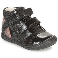 Cipők Lány Magas szárú edzőcipők GBB ROXANE Fekete  / Ezüst