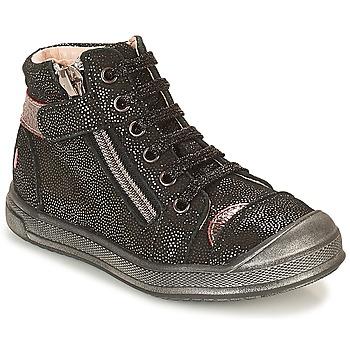 Cipők Lány Magas szárú edzőcipők GBB DESTINY Fekete  / Fényes