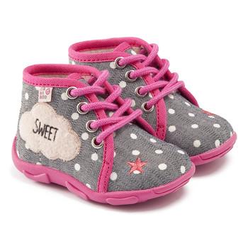 Cipők Lány Mamuszok GBB BUBBLE Ttx / Szürke-korall / Dtx / Amis