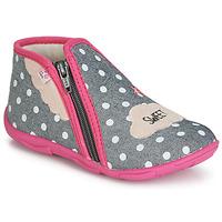 Cipők Lány Mamuszok GBB MILKY Szürke / Rózsaszín
