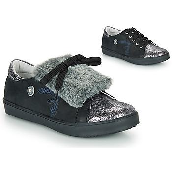 Cipők Lány Rövid szárú edzőcipők Catimini MARGOTTE Fekete  / Ezüst