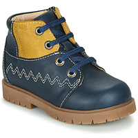 Cipők Fiú Magas szárú edzőcipők Catimini CHARLY Vtu / Tengerész kék-mustár sárga / Dpf / 2900