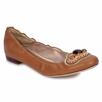 Cipők Női Balerina cipők / babák Sebastian AMARILLI Teve