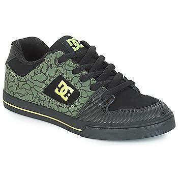 Cipők Gyerek Rövid szárú edzőcipők DC Shoes PURE SE B SHOE BK9 Fekete  / Zöld
