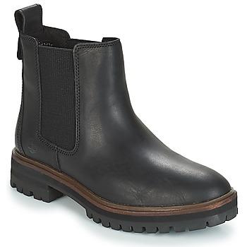 Cipők Női Csizmák Timberland London Square Chelsea Fekete