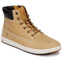 Cipők Gyerek Magas szárú edzőcipők Timberland Davis Square 6 Inch Boot Barna