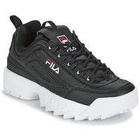 Cipők Női Rövid szárú edzőcipők Fila DISRUPTOR LOW WMN Fekete