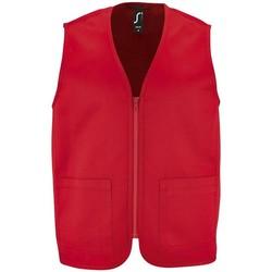 Ruhák Kabátok Sols WALLACE WORK UNISEX Rojo