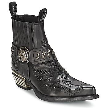 Cipők Női Csizmák New Rock PRETO Fekete