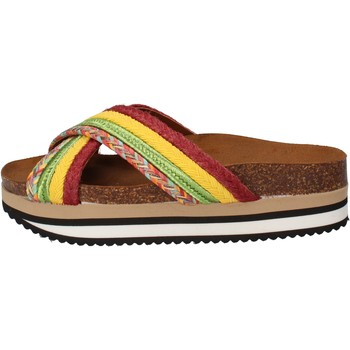 Cipők Női strandpapucsok 5 Pro Ject sandali verde tessuto giallo AC589 Multicolore