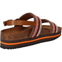 Cipők Női Szandálok / Saruk 5 Pro Ject sandali rosa tessuto marrone AC592 Rosa