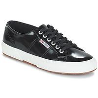 Cipők Női Rövid szárú edzőcipők Superga 2750-LEAPATENTW Fekete