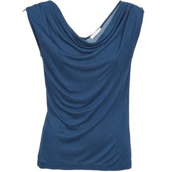 material Női Trikók / Ujjatlan pólók DDP CARLA Tengerész