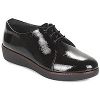 Cipők Női Oxford cipők FitFlop CRINKLE PATENT Fekete
