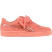 Cipők Gyerek Rövid szárú edzőcipők Puma Suede Heart Snk JR Rózsaszín