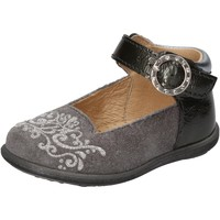 Cipők Lány Balerina cipők  Balducci ballerine grigio camoscio vernice AD599 Grigio